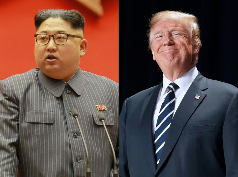 A summit between US President Donald Trump and North Korea's Kim Jong Un is due to be held by the end of May STR (KCNA via KNS/AFP/File)