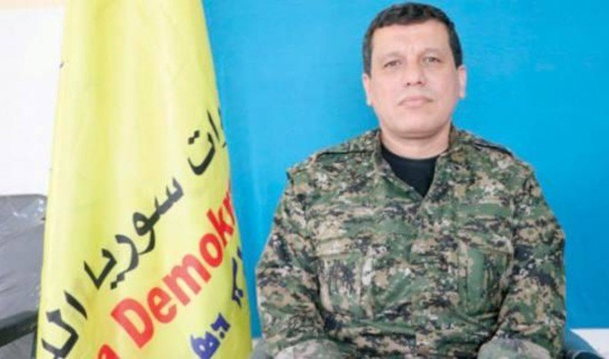 The Commander-in-Chief of the Syrian Democratic Forces Mazloum Abdi. (Asharq Al-Awsat)
