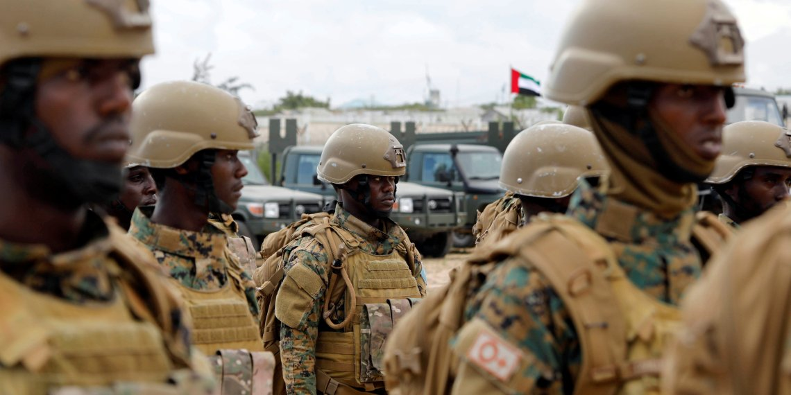 Somali military officers attend a training programme by the United Arab Emirates (UAE) at their military base in Mogadishu, Somalia November 1, 2017. REUTERS/Feisal Omar/File Photo