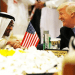 Donald Trump shakes hands with Abu Dhabi Crown Prince Mohammed Bin Zayed in Riyadh,Saudi Arabia , May 21,2017 REUTERS