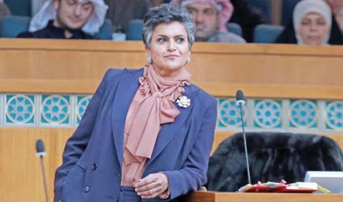 Safa Al-Hashem is the only female MP in Kuwait's 50-seat National Assembly. (Courtesy Kuwait Times)