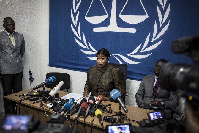 Photo showing the International Criminal Court's (ICC) chief prosecutor, Fatou Bensouda, holds a press conference during her visit to DRC, May 3, 2018. (AFP)