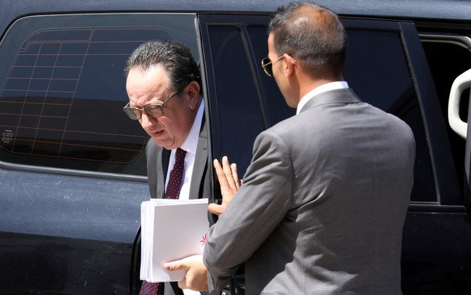 Hafedh Caid Essebsi, the president's son and head of Nidaa Tounes arrives for a meeting at Carthage Palace in Tunis, Tunisia, May 25, 2018. (Reuters)