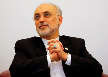 """FILE PHOTO: Head of the Iranian Atomic Energy Organization Ali Akbar Salehi attends the lecture """"Iran after the agreement: Hopes & Concerns"""" in Vienna, Austria, September 28, 2016. REUTERS/Leonhard Foeger/File Photo"""