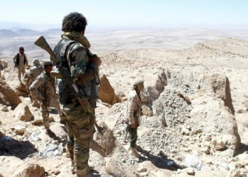 The Yemeni army and forces of the Popular Resistance gained controlled of the strategic military positions overlooking the district of Al-Rahdah, south of Taiz./ REUTERS