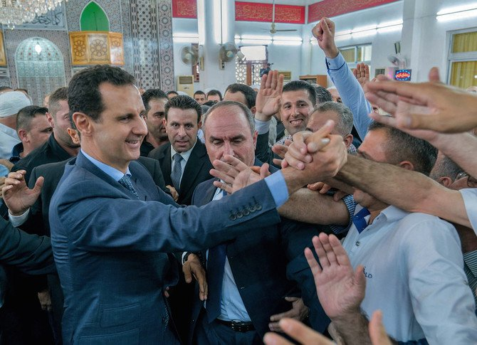 Bashar Assad has rarely appeared in public outside Damascus since Syria's conflict broke out more than six years ago. (AFP)