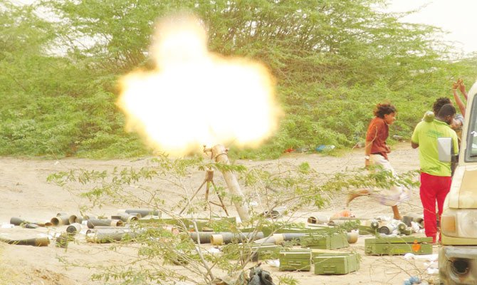 With battles raging at the southern side of Al-Hodeidah International Airport, the Yemeni military said it had entirely seized the facility./ AFP