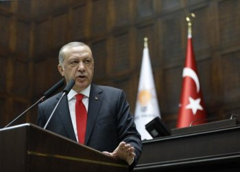 Turkey's President Recep Tayyip Erdogan delivers a speech to MPs of his ruling Justice and Development Party (AKP) at the parliament in Ankara, Turkey, Saturday, July 7, 2018. (File Photo:AP/Burhan Ozbilici)