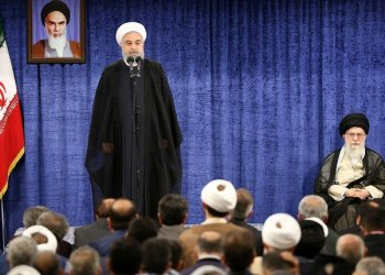 Iran's supreme leader on Saturday backed President Hassan Rouhani's suggestion that Iran may block Gulf oil exports if its own exports are stopped, according to his official website. (File photo: AFP)
