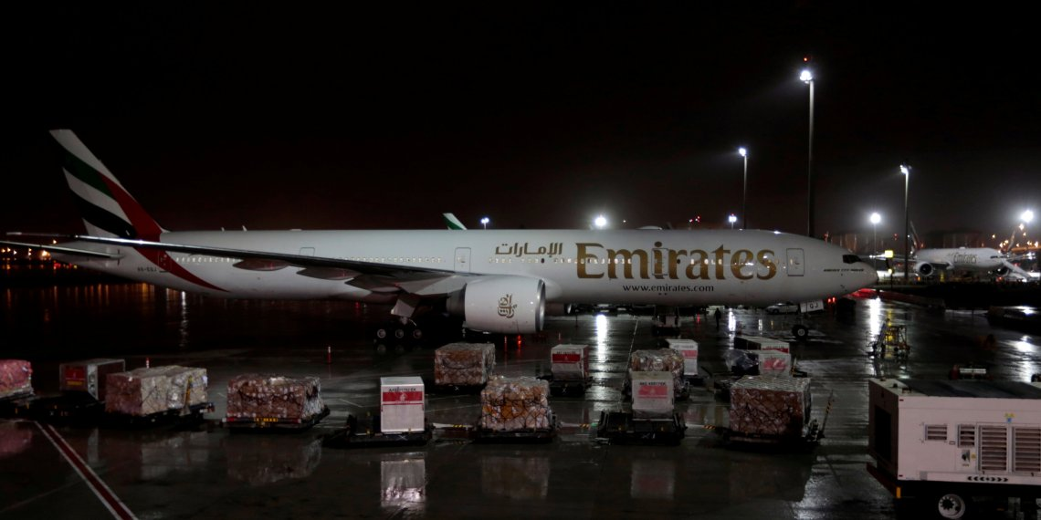 FILE PHOTO: Emirates airlines planes stand parked at Dubai International Airport, United Arab Emirates January 8, 2018. REUTERS/Caren Firouz/File Photo