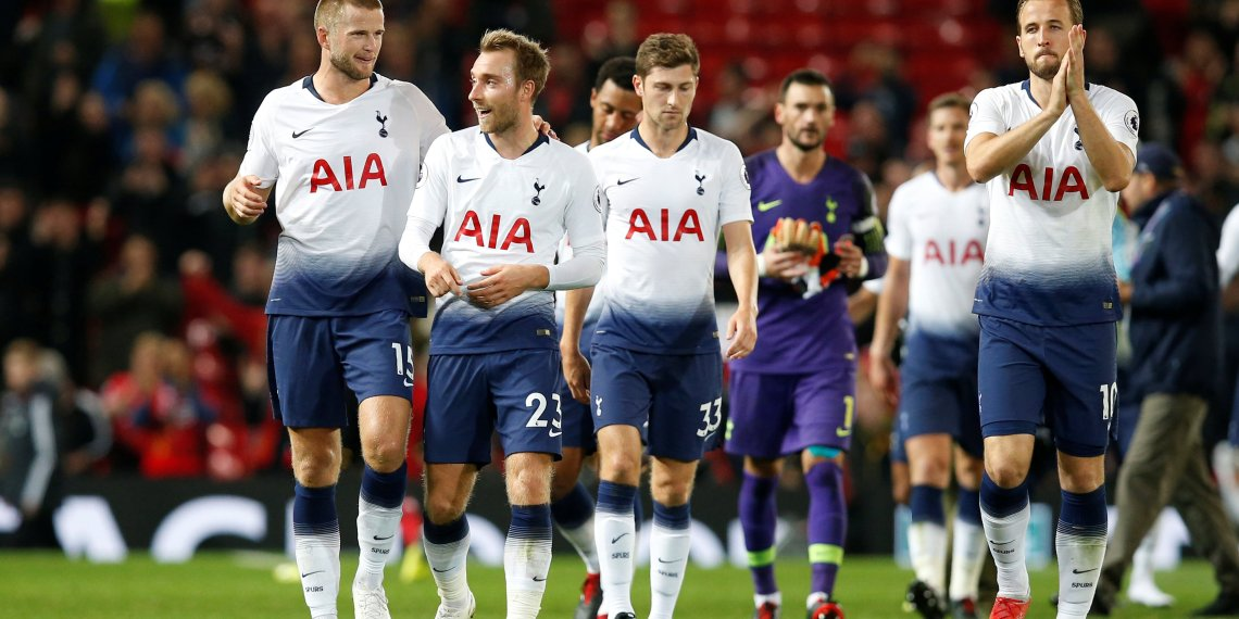 Soccer Football - Premier League - Manchester United v Tottenham Hotspur - Old Trafford, Manchester, Britain - August 27, 2018 Tottenham's Eric Dier and Christian Eriksen after the match. REUTERS/Andrew Yate