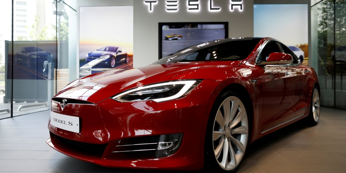 FILE PHOTO: A Tesla Model S electric car is seen at its dealership in Seoul, South Korea July 6, 2017. REUTERS/Kim Hong-Ji/File Photo