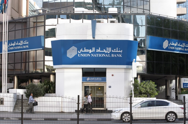 A view of a branch of Union National Bank along Khalid Bin Al-Waleed Road in Dubai January 4, 2012. REUTERS/Nikhil Monteiro