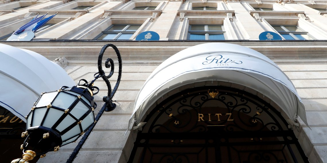 FILE PHOTO: The luxury Ritz Paris hotel is pictured in the Place Vendome in Paris, France February 1, 2018. REUTERS/Gonzalo Fuentes/File Photo