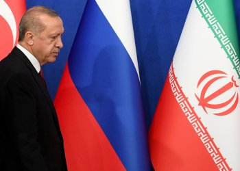 FILE PHOTO: Turkish President Tayyip Erdogan arrives for a news conference with President Hassan Rouhani of Iran and Vladimir Putin of Russia following their meeting in Tehran, Iran September 7, 2018. Kirill Kudryavtsev/Pool via REUTERS