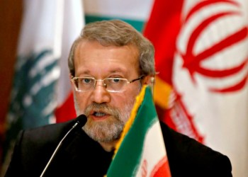 FILE PHOTO: Iranian Parliament Speaker Ali Larijani speaks during a news conference in Beirut December 22, 2014. REUTERS/Mohamed Azakir/File Photo - RC1A743FF7E0
