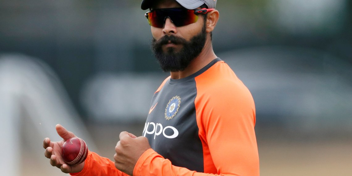 FILE PHOTO: Cricket - India Nets - Edgbaston, Birmingham, Britain - July 31, 2018   India's Ravindra Jadeja during nets   Action Images via Reuters/Andrew Boyers
