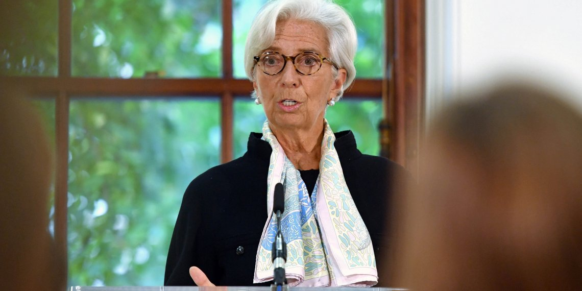 FILE PHOTO: Christine Lagarde, International Monetary Fund (IMF) Managing Director, talks to the media at a news conference to mark the publication of the 2018 Article IV assessment of the UK at the Treasury in London, Britain, September 17, 2018. John Stillwell/Pool via REUTERS
