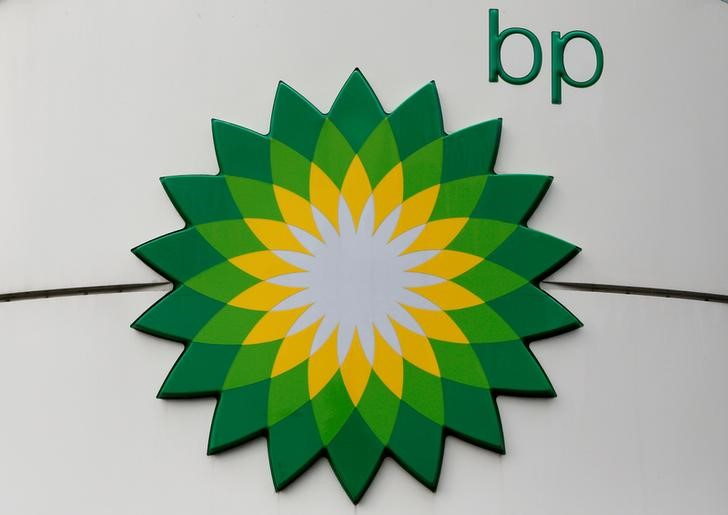 FILE PHOTO: The logo of BP is on display at a petrol station in Moscow, Russia, July 4, 2016. REUTERS/Sergei Karpukhi/File Photo