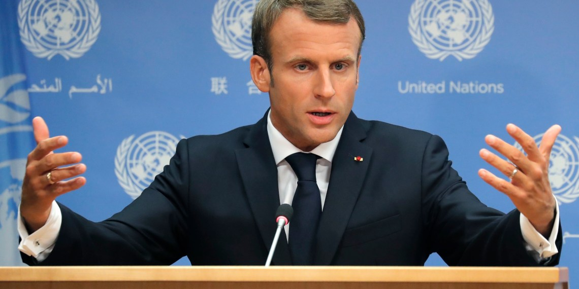 France's President Emmanuel Macron speaks during a press conference he held during the 73rd session of the United Nations at U.N. headquarters in New York, U.S., September 25, 2018. REUTERS/Caitlin Ochs