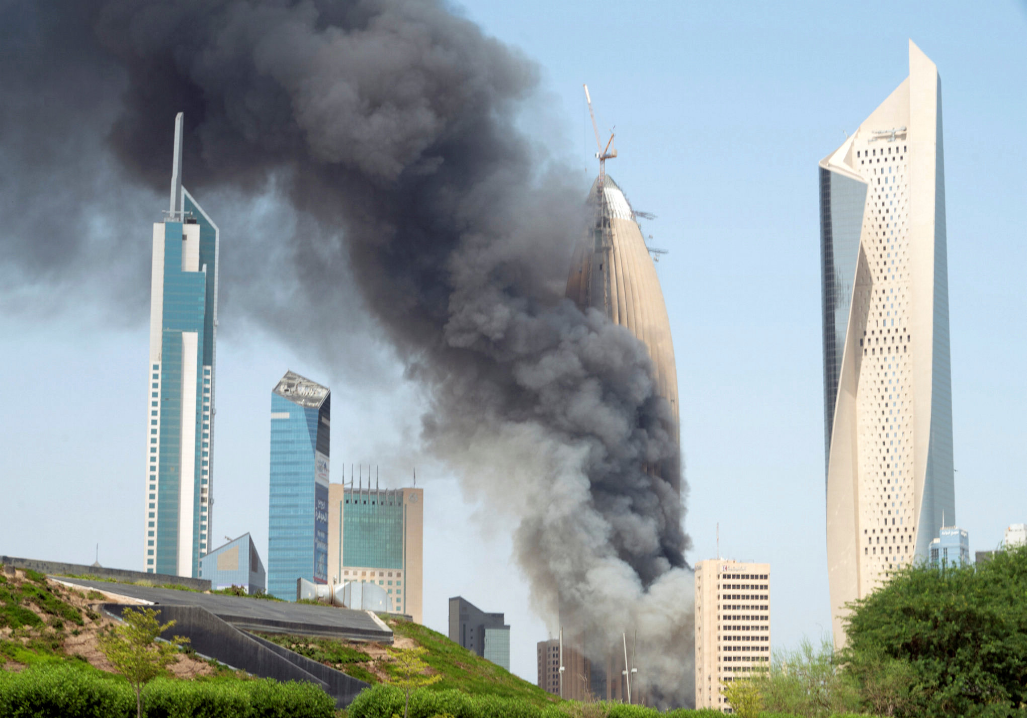 National Bank of Kuwait says fire put down at headquarters