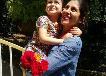 FILE PHOTO: Family handout photograph showing British-Iranian aid worker Nazanin Zaghari-Ratcliffe reunited with her daughter Gabriella after her temporary release from an Iranian jail, Tehran Iran, August 23, 2018. REUTERS/File Photo