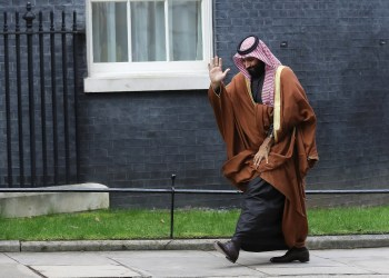 FILE PHOTO: Crown Prince of Saudi Arabia Mohammad bin Salman arrives to meet Britain's Prime Minister Theresa May in Downing Street in London, March 7, 2018. REUTERS/Simon Dawson