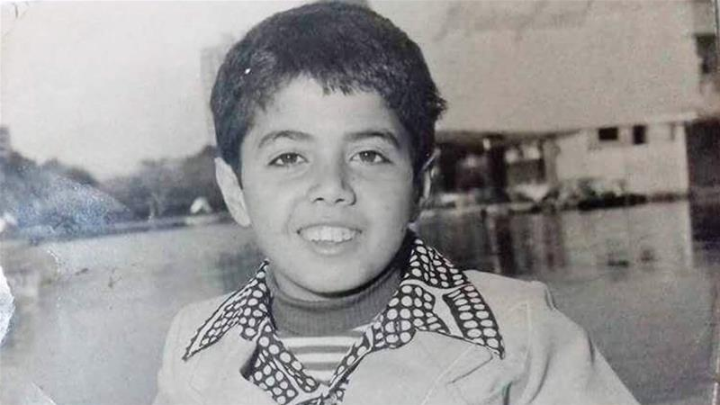 The author in second grade on a visit to Cairo in 1979 [Courtesy of Ramzy Baroud]