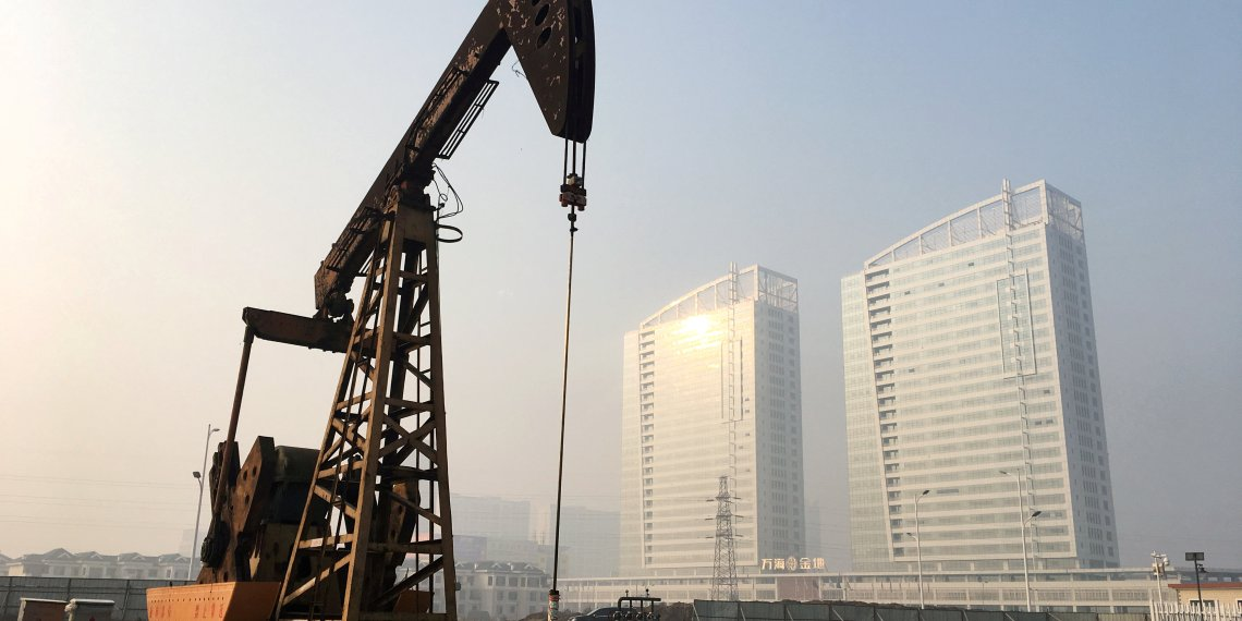 FILE PHOTO: A pumpjack is seen at the Sinopec-operated Shengli oil field in Dongying, Shandong province, China January 12, 2017. REUTERS/Chen Aizhu/File Photo