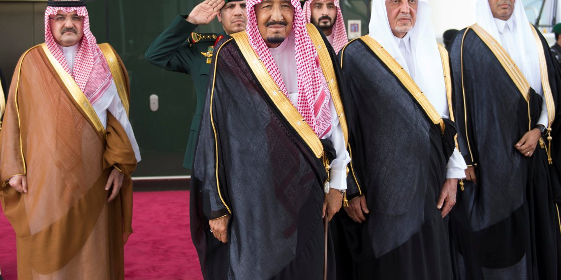 Saudi Arabia's King Salman bin Abdulaziz Al Saud attends the inauguration of the Haramain Railway connecting Mecca and Medina with the Red Sea coastal city of Jeddah, Saudi Arabia September 25, 2018. Bandar Algaloud/Courtesy of Saudi Royal Court/Handout via REUTERS/File Photo