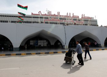 FILE PHOTO: A general view of the entrance to the airport in Tripoli March 21, 2014. REUTERS/Ismail Zitouny