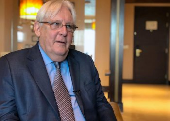 United Nations Special Envoy to Yemen Martin Griffiths speaks during an interview with Reuters in Abu Dhabi, UAE, October 4, 2018. REUTERS/Tarek Fahmy