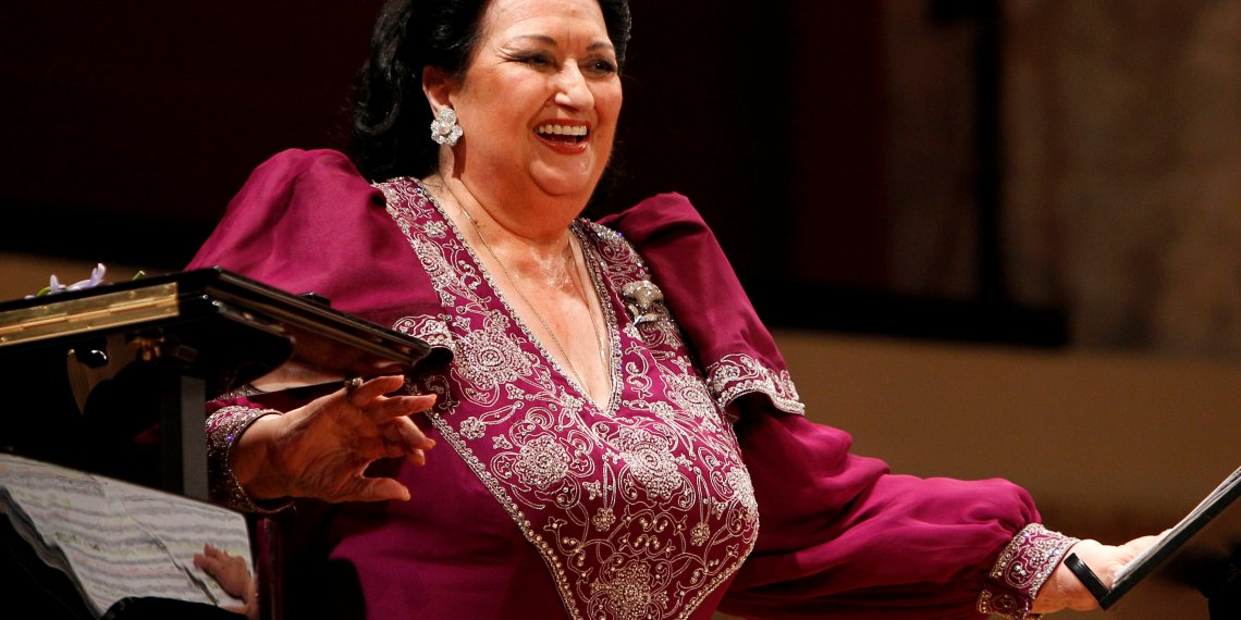 FILE PHOTO: Spanish opera singer Montserrat Caballe laughs during a concert at Konzerthaus in Vienna, Austria June 22, 2011. REUTERS/Lisi Niesner/File Photo