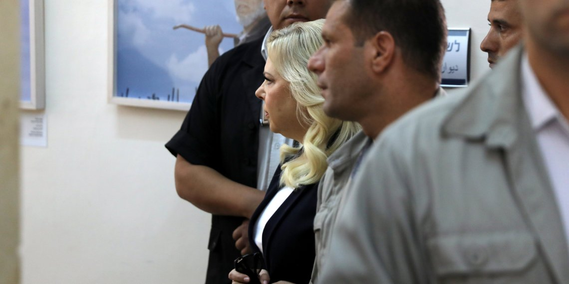 Sara, wife of Israeli Prime Minister Benjamin Netanyahu, arrives to a court hearing in the fraud trial against her, at the Magistrate court in Jerusalem October 7, 2018. REUTERS/Ammar Awad