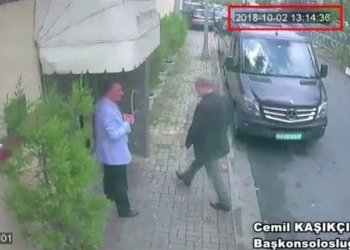 A still image taken from CCTV video and obtained by TRT World claims to show Saudi journalist Jamal Khashoggi as he arrives at Saudi Arabia's consulate in Istanbul, Turkey Oct. 2, 2018. Reuters TV/via REUTERS