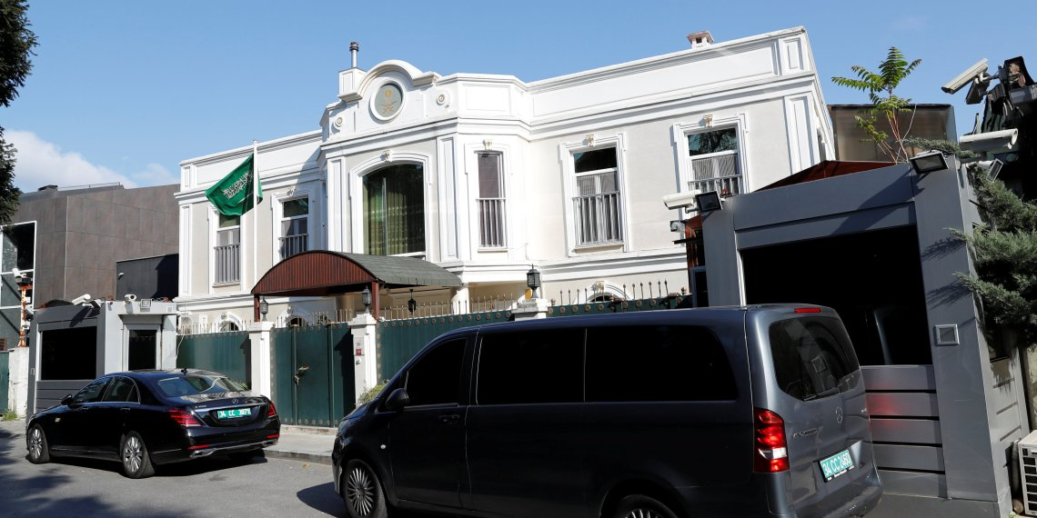 Residence of Saudi Arabia's Consul General Mohammad al-Otaibi is pictured in Istanbul, Turkey October 10, 2018. REUTERS/Murad Sezer