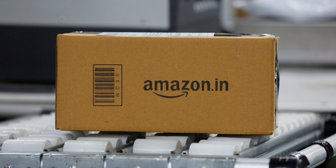 FILE PHOTO: A shipment moves on a conveyor belt at an Amazon Fulfillment Centre (BLR7) on the outskirts of Bengaluru, India, September 18, 2018. REUTERS/ Abhishek N. Chinnappa/File Photo