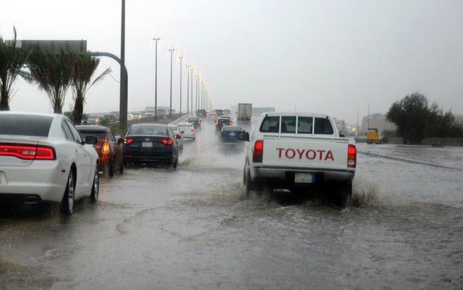 Adverse weather conditions are forecasted for the regions of Najran and Al-Baha on Saturday. (AFP)