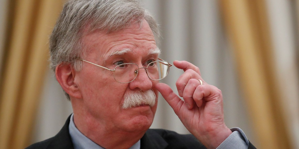 FILE PHOTO: U.S. National Security Adviser John Bolton attends a meeting with Russian President Vladimir Putin at the Kremlin in Moscow, Russia October 23, 2018. REUTERS/Maxim Shemetov
