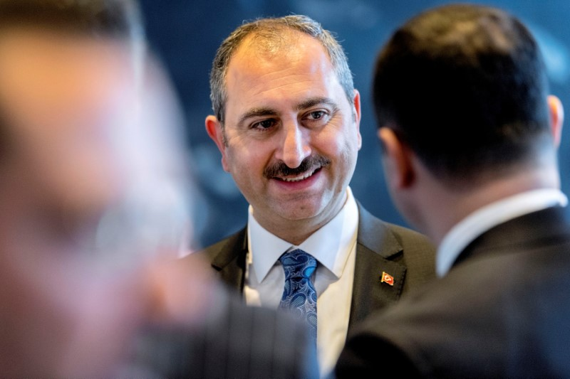FILE PHOTO: Turkey's Minister of Justice Abdulhamit Gul attends the opening of the Council of Europe's conference on reform of the European Human Rights Convention System, in Copenhagen, Denmark April 12, 2018. Scanpix Denmark/Bax Lindhardt/via REUTERS