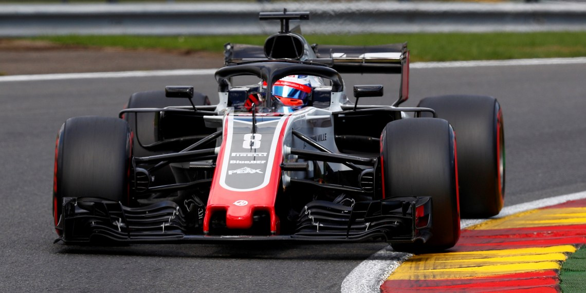 FILE PHOTO: Formula One F1 - Belgian Grand Prix - Spa-Francorchamps, Stavelot, Belgium - August 25, 2018  Haas' Romain Grosjean in action during qualifying  REUTERS/Francois Lenoir/File Photo