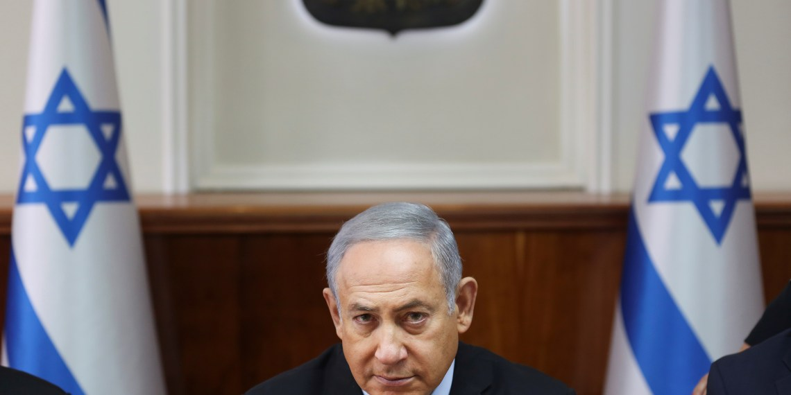 Israel Prime Minister Benjamin Netanyahu attends the weekly cabinet meeting at his office in Jerusalem October 28, 2018. Oded Balilty/Pool via REUTERS