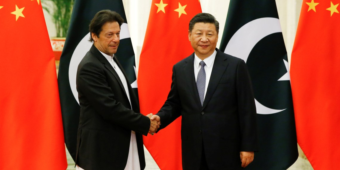 Chinese President Xi Jinping meets Pakistani Prime Minister Imran Khan at the Great Hall of the People in Beijing, November 2, 2018. REUTERS/Thomas Peter/Pool