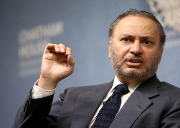 FILE PHOTO: Minister of State for Foreign Affairs for the United Arab Emirates, Anwar Gargash, speaks at an event at Chatham House in London, Britain July 17, 2017. REUTERS/Neil Hall/File Photo