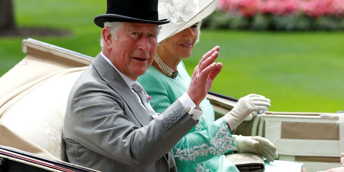 FILE PHOTO: Horse Racing - Royal Ascot - Ascot Racecourse, Ascot, Britain - June 20, 2018   Britain's Prince Charles and Camilla, the Duchess of Cornwall arrives at Ascot.   REUTERS/Peter Nicholls/File Photo