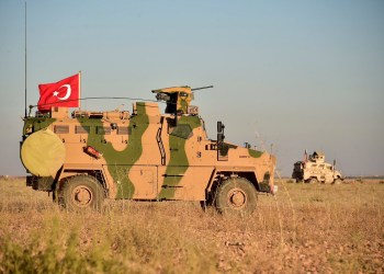 Turkish and U.S. troops are pictured during a joint patrol around Manbij, northern Syria November 1, 2018. Picture taken November 1, 2018. Turkish Defence Ministry/Turkish Military/Handout via REUTERS