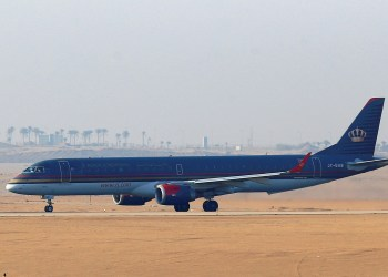 FILE PHOTO: A Royal Jordanian Airlines Embraer ERJ-195AR jet waits to take off at Cairo Airport, Egypt, July 13, 2016. REUTERS/Amr Abdallah Dalsh