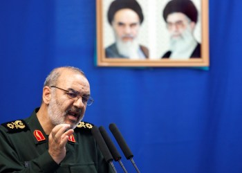 FILE PHOTO: Hossein Salami, deputy head of Iran's Revolutionary Guard, speaks during Tehran's Friday prayers July 16, 2010. REUTERS/Morteza Nikoubazl/File Photo