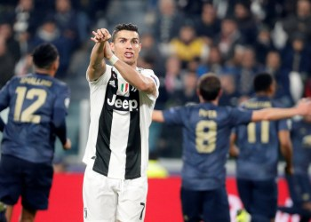 Soccer Football - Champions League - Group Stage - Group H - Juventus v Manchester United - Allianz Stadium, Turin, Italy - November 7, 2018 Juventus' Cristiano Ronaldo appeals after Manchester United's second goal REUTERS/Stefano Rellandini