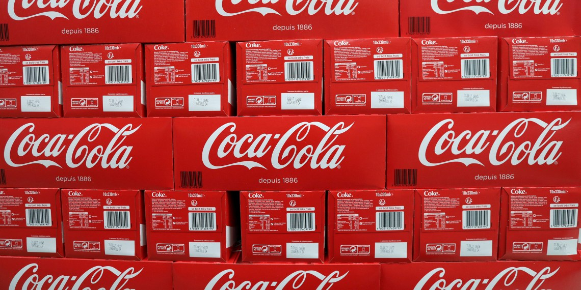 FILE PHOTO: Coca-Cola cartons are seen in a Casino supermarket in Mouans Sartoux, France, October 27, 2016. REUTERS/Eric Gaillard/File Photo